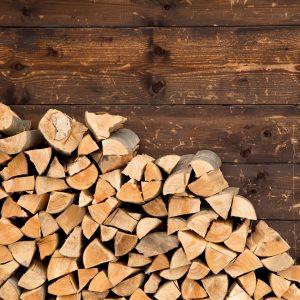 tas de bois en vrac